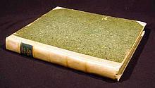 CATULLI TIBULLI ET PROPERTII OPERA 1772 Antique Poetry Latin Literature Vellum Binding