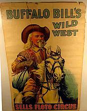 Authentic Original BUFFALO BILL'S WILD WEST & SELLS FLOTO CIRCUS Poster Chromolithograph Ephemera 1914 Harry Tammen Frederick G. Bonfils