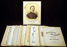 12 Pc. Antique CIVIL WAR SHEET MUSIC Union Soldier's Battle Song General McClellan's Grand March Let Freedom Be Our Battle Cry Let Me Hold It Till I Die Gov. Curtin's Grand March Grand Union Medley Grand March Victorious God Bless the Old Sixth Corps