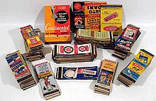 275 Pc. Vintage 1940s MATCHBOOK COLLECTION World War II Patriotic Risque Girlie Advertising Tires Gum Firearms Hotels Restaurants 1939 World's Fair