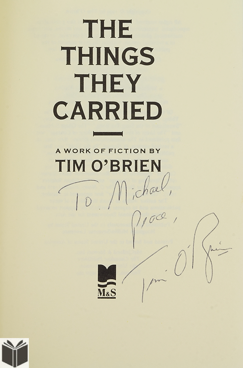 war experiences in the things they carried a book by tim obrien The things they carried and millions of other books are available for  the list  of best fiction about any warcrystallizes the vietnam experience for everyone.