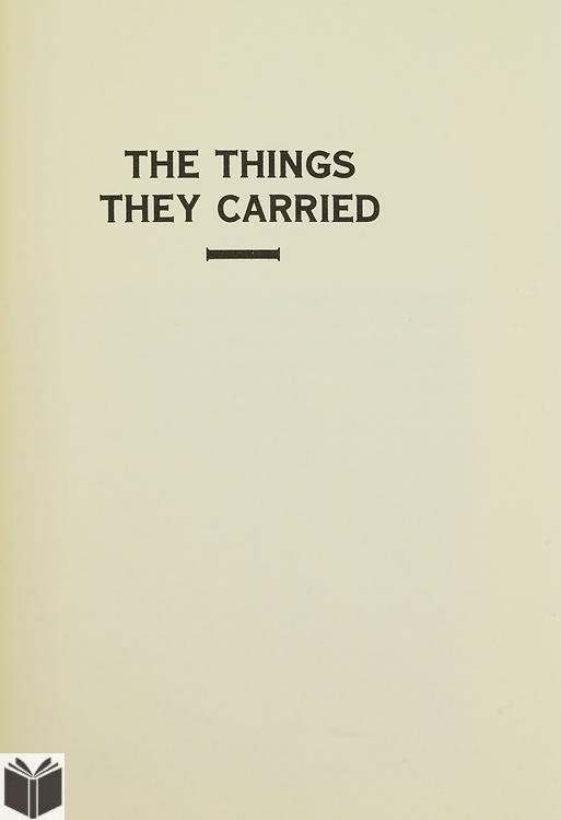 """essay on the short story the things they carried Learn the key facts about """"the things they carried"""", the famous tim o'brien's  collection of short stories about the war in vietnam."""