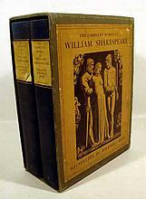 2V THE COMPLETE WORKS OF WILLIAM SHAKESPEARE 1936 Limited Edition Signed By Illustrator Rockwell Kent Preface By Christopher Morley Plates