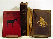5V Antique EQUESTRIAN BOOKS Care of Horses Breeding Western Cowboy Poetry Horse Racing Trotting Horsemanship Thoroughbreds Hunting Colonial Lineages