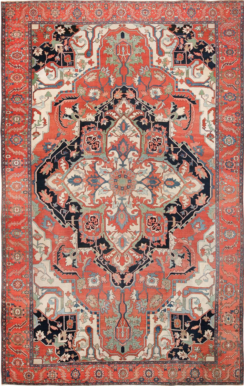 Sold Price Antique Persian Serapi Rug Size 12 X 19 3 66 M X 5 79 M June 4 0120 6 30 Pm Edt