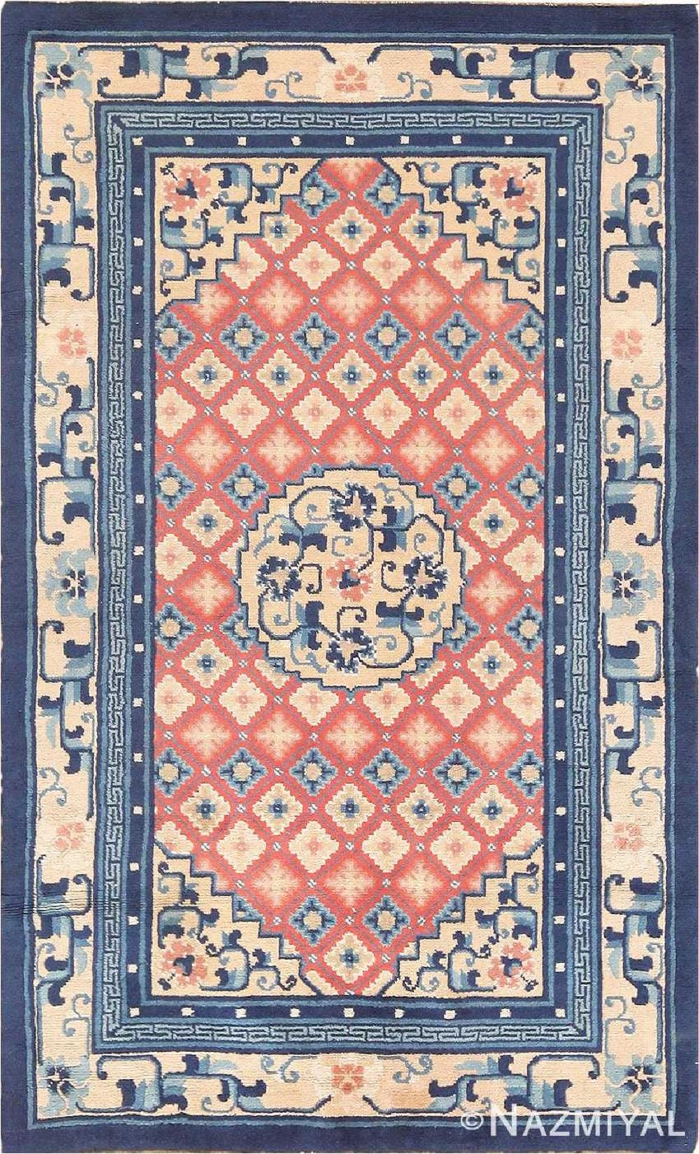 ANTIQUE CHINESE RUG. 5 ft x 3 ft (1.52 m x 0.91 m).