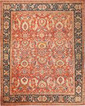 Large Scale All Over Design Persian Sultanabad Antique Rug 50708