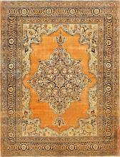 Fine Small Scatter Size Antique Persian Tabriz Rug 50693
