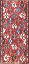 Gallery Size Antique Tribal Turkish Kilim Rug 50679