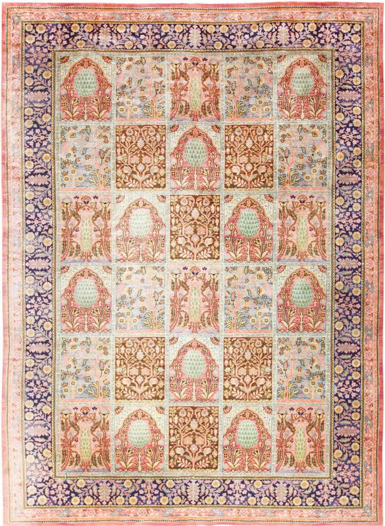 Beautiful room size antique israeli bezalel rug for Room size rugs