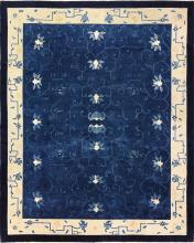 Room Size Antique Blue Chinese Rug