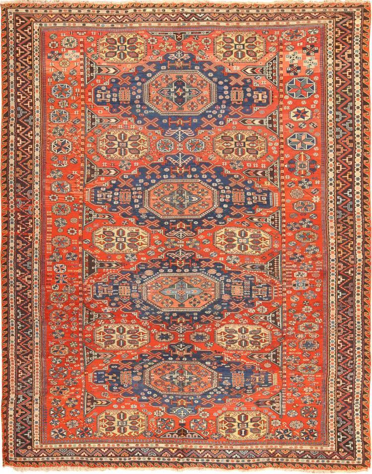 Roomsize Antique Soumak Caucasian Rug
