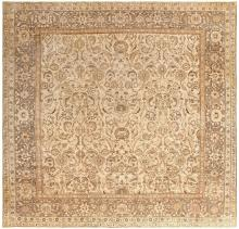Square Size Antique Agra Indian Rug