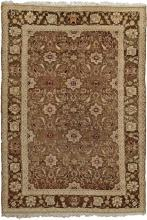 Antique Green Indian Agra Rug