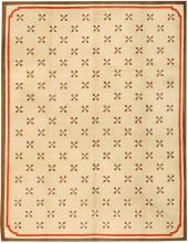 Antique Hooked American Rug