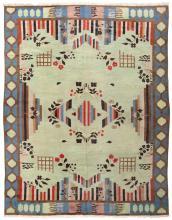 Sale! Vintage Art Deco Indian Rug