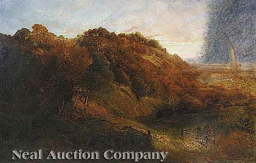 "John Clayton Adams (English, 1840-1906), ""Rainbow"