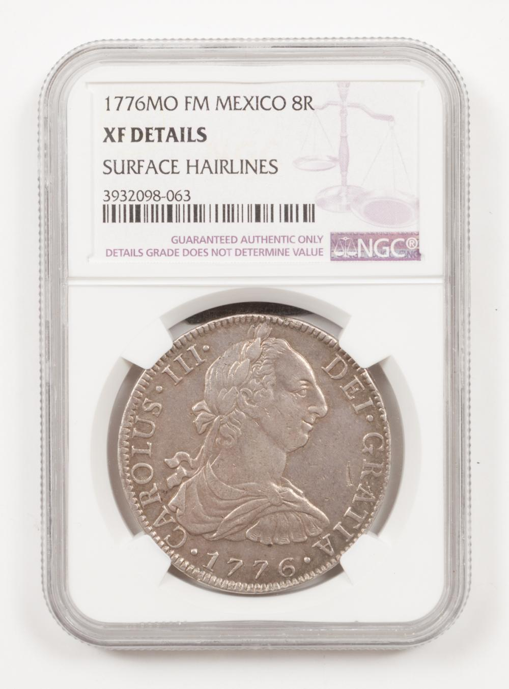 Two Mexico Spanish Colony 8 Reales Coins