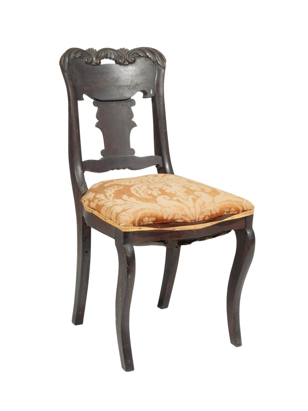 American Classical Revival Mahogany Side Chair