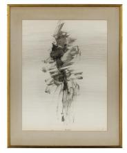 """Nasser Assar, (Iranian/French, 1928-2011), """"Untitled"""", 1963, ink on paper laid on paper board, 25-1/2"""" x 19-1/2"""""""