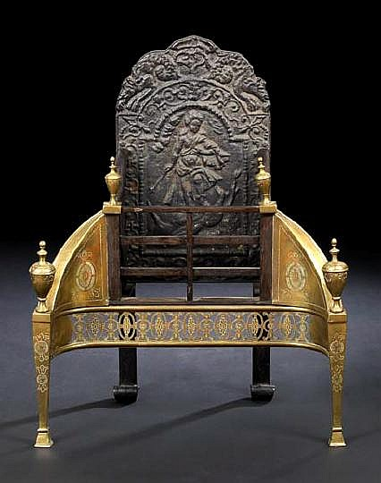 Large and Stately Edwardian Gilt-Brass and
