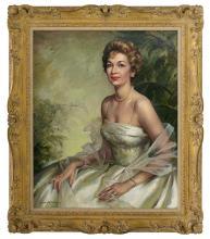 "Louise Altson (American, 1910-2010), ""Portrait of Beryl Ann Longino (Mrs. Lloyd) Bentsen"""