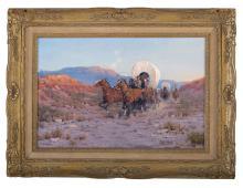 "Melvin Charles Warren (American/Texas, 1920-1995), ""Run for the Pass"""