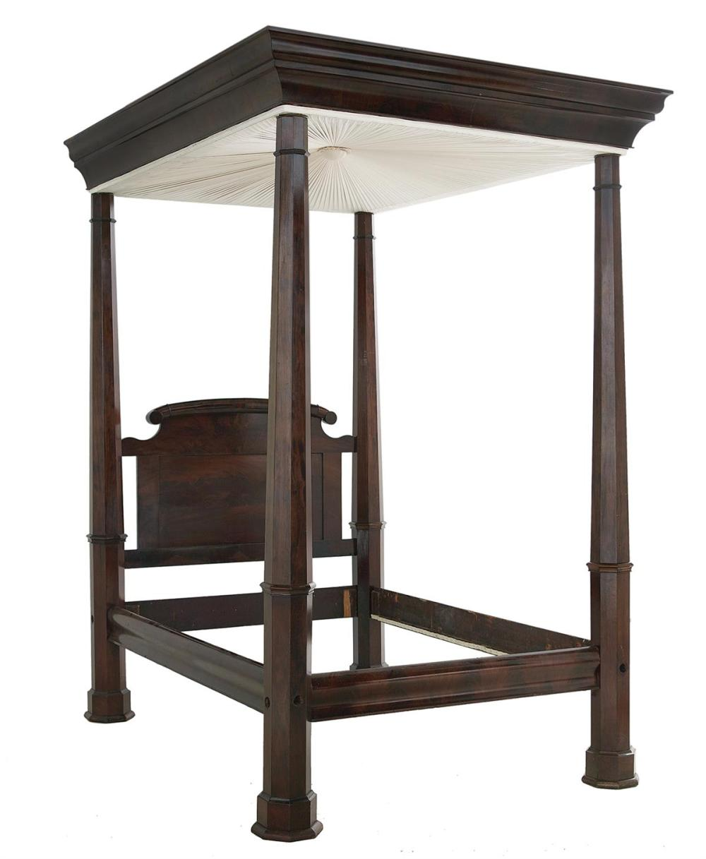 New Orleans Market Mahogany Tester Bed