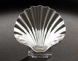 George II Sterling Silver Butter Shell, hallmarked
