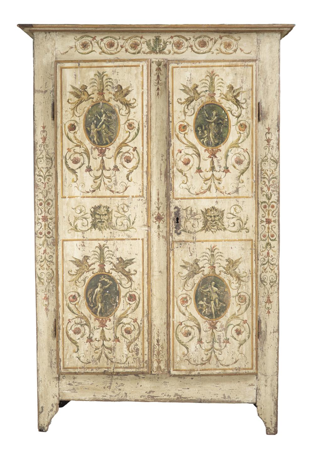 Continental Polychromed Armoire