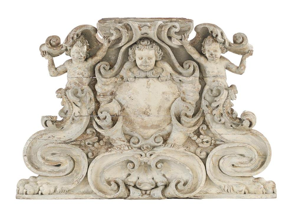 Exceptional French Baroque Architectural Carving