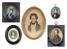 German/Austrian Schools (Fourth Quarter 18th/First Half 19th Century), Five Fine Portrait Miniatures