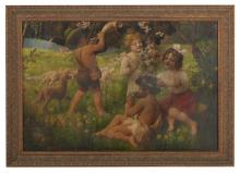 """Friedrich Schlegel, (German, 1865-1935), """"Merry-Making Children"""""""