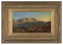 "Sidney Richard Percy (British, 1821-1886), ""Evening near Glencoe"""