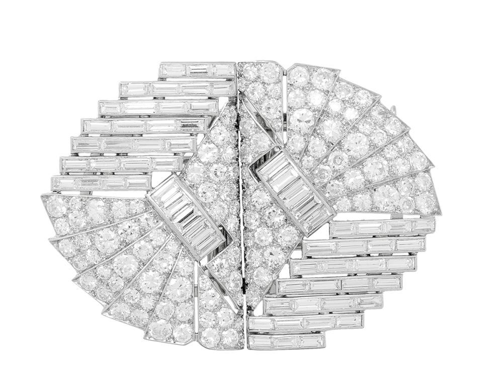 Beautiful Diamond Brooch/Dress Clips