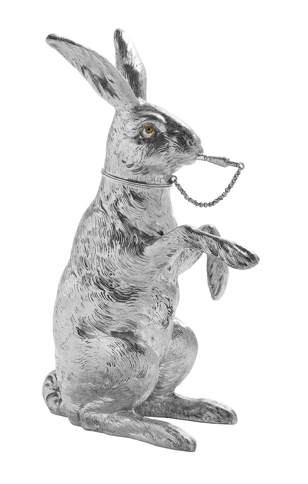 "German Novelty ""Rabbit"" Sterling Silver Cocktail Shaker"
