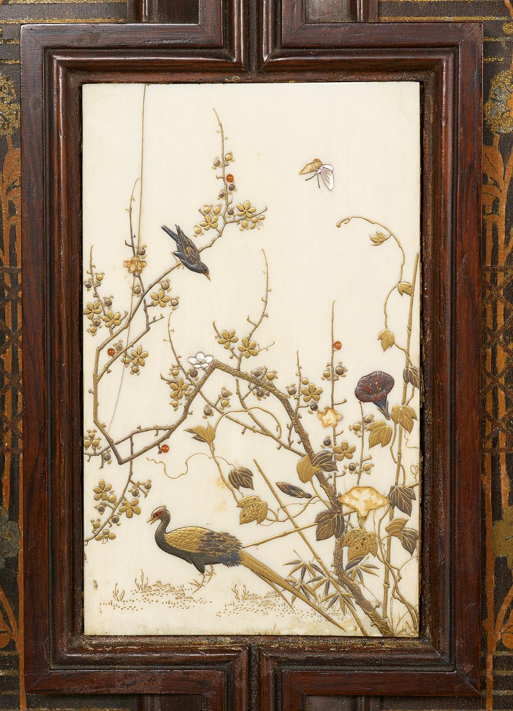 American Aesthetic Movement Rosewood Cabinet, Attributed to Pottier & Stymus, New York