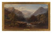 "Sidney Richard Percy (British, 1821-1886), ""River near Dolgelthy, North Wales"""