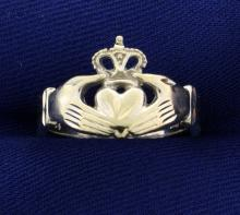 Claddagh Ring in White Gold