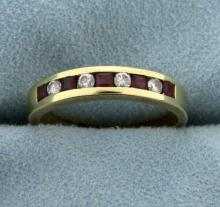Diamond and Ruby Band Ring