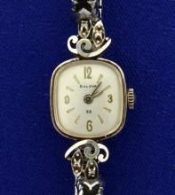 Vintage 14k Gold and Diamond Woman's Bulova Watch