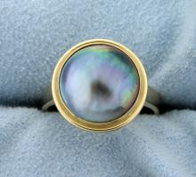14K Silver Pearl Ring