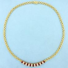 High Quality Ruby & Diamond Necklace