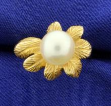 Flower Pearl Ring