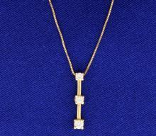 1/4 ct TW 3 Stone Diamond Pendant with chain