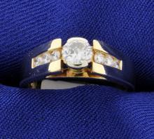 Diamond Ring with Accent Diamonds