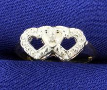 Double Heart Promise Ring
