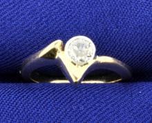 1/4 Carat Diamond 14k Yellow Gold Ring