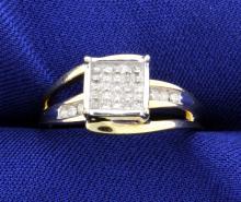 33 Diamond 10K Yellow Gold Cocktail Ring