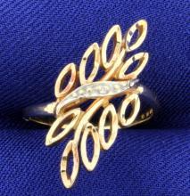 Diamond Fashion 10K Ring
